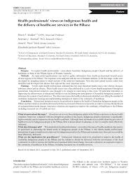 Health Care Services Australia Health Health Professionals U0027 Views On Indigenous Health And The Delivery