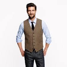 2018 farm wedding vintage brown tweed vests custom made groom vest