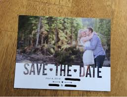 vista print wedding invitation our save the dates from vistaprint weddingbee