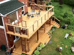 Backyard Deck Plans Pictures by The Complete Guide About Multi Level Decks With 27 Design Ideas