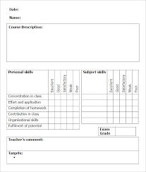 pupil report template sle school report templates exles 14 free word pdf
