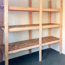 diy storage shelves how to build storage shelves for less than 75 the handyman s