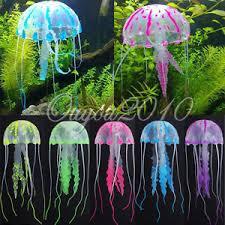 glowing effect aquarium artificial jellyfish ornament fish tank