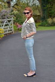 What To Wear With Light Jeans Nydj Jeans Review Light Wash Skinnies And Sequinned Breton