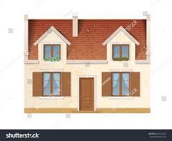 historic facade european house windows decorated stock vector
