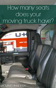 how many seats does a how many seats are in a moving truck