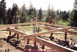 16x24 post and pier cabin cabin foundations framing up the postand pier foundation joists