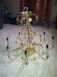 blue chandelier redo hometalk