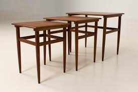Nesting Dining Table Mid Century Modern Danish Nesting Tables 1960s For Sale At Pamono