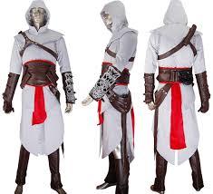 Corvo Costume Halloween Assassins Creed Cosplay Altair Costume Jacket Hoodie Halloween