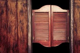 Cafe Swinging Doors How Did Saloons In The Old West Lock Their Doors At Night