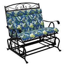 amazon com outdoor loveseat glider cushion color skyworks