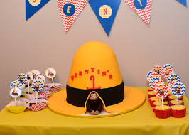 curious george birthday cake curious george themed 1st birthday party project nursery