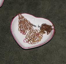 porcelaine peinte main 2 repose bijoux coeurs en porcelaine personnalisable