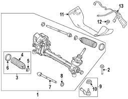ford focus suspension diagram parts com ford rod tie partnumber bv6z3a130f
