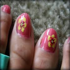 toe nail designs flowers