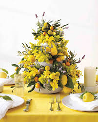 flower centerpieces yellow wedding centerpieces martha stewart weddings