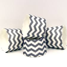 Baking Favors by Grey Grey Chevron Baking Cups Cupcake Liners
