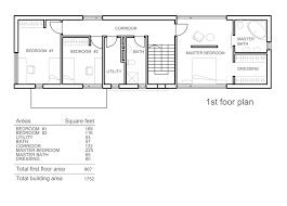 rectangular house plans modern modern style house plan 3 beds 2 5 baths 1752 sq ft plan 552 3