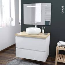 Meuble Vasque Retro by Ensemble Salle De Bains Meuble Ipoma Blanc Plan De Toilette Hosta