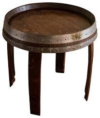 silver barrel side table barrel end table kmworldblog com