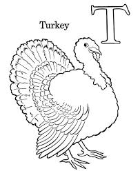 turkey is for letter t coloring page bulk color