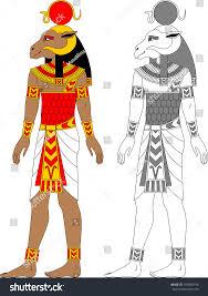 illustration egyptian zodiac sign aries man stock vector 195058796