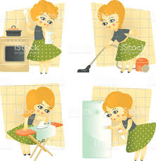Home Chores household choreshousewifeset of images with a stock vector