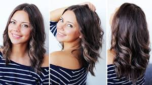 easy hairstyles for wavy medium length hair how to curl short medium hair with a straightener youtube