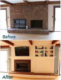 best 25 brick fireplace remodel ideas on pinterest whitewashed