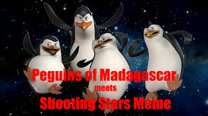 penguins of madagascar meets shooting stars meme youtube