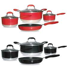 pantry chef cookware gourmet chef induction ready 7 non stick cookware set free