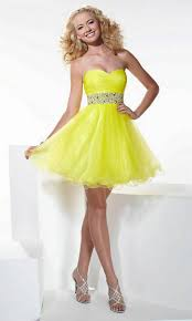 short yellow prom dresses dress fa