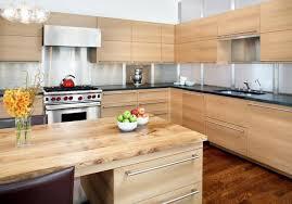 meubles cuisine bois design interieur meubles cuisine bois blond îlot central sol