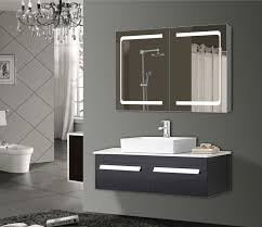 led vanity medicine cabinet mirror with double sided mirror