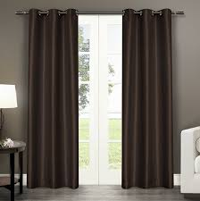 Curtain Panels Amazon Com Exclusive Home Antique Satin Grommet Top Window