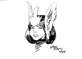 arthur adams con sketch danielle moonstar in kevin patterson u0027s