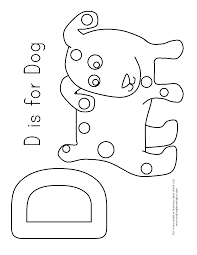 d is for dog coloring sheet