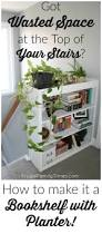 how to make a built in stair top bookcase with planter it u0027s