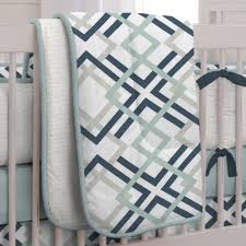 geometric pattern bedding navy and gray geometric crib bedding carousel designs