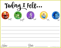 Free Printable Self Help Worksheets Thinking About Our Emotions With Inside Out Free Printable