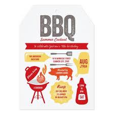Backyard Birthday Party Invitations by Bbq Icons Grown Up Summer Birthday Party Invitation Card