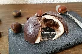 cuisiner marrons frais recette de dôme chocolat mousse de marron et coeur de marron glacé