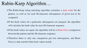 pattern matching algorithm in data structure using c rabin karp string matching algorithm