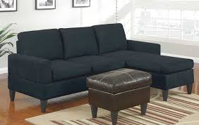 Faux Leather Ottoman Microfiber Reversible Chaise Sectional Plus Faux Leather Ottoman