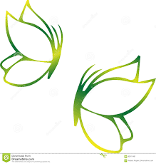 eco icon green butterfly symbol vector illustration isolated on