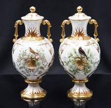 Royal Crown Derby Vase A Boxed Pair Of Royal Crown Derby Covered Vases Autumnal Equinox
