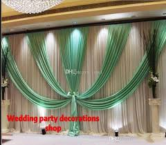 wedding backdrop chagne 2018 3m 6m10ft 20ft wedding backdrop curtain with swag backdrop