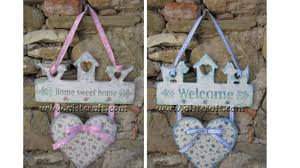 how to make shabby chic welcome u0026 home signs diy youtube