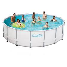 Amazon Summer Waves Elite Metal Frame Swimming Pool Package